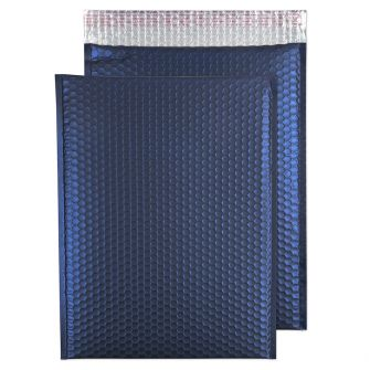 Metallic Bubble Padded Pocket Peel and Seal Oxford Blue BX50 450x324