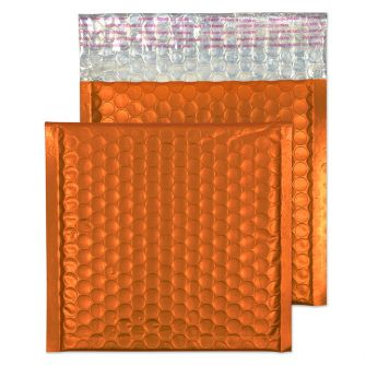 Metallic Bubble Padded Wallet Peel and Seal Flame Orange BX100 165x165