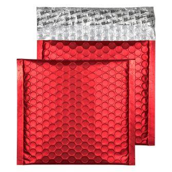 Metallic Bubble Padded Wlt P/S Matt Pillar Box Red BX100 165x165