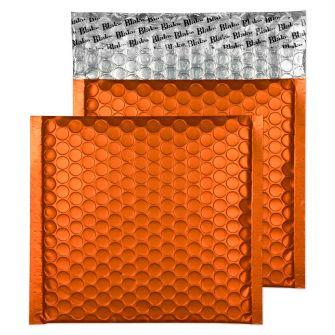 Metallic Bubble Padded Wlt P/S Matt Pumpkin Orange BX100 165x165