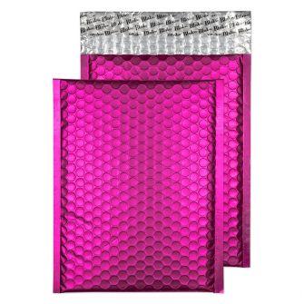 Metallic Bubble Padded Pkt P/S Matt Shocking Pink BX100 250x180
