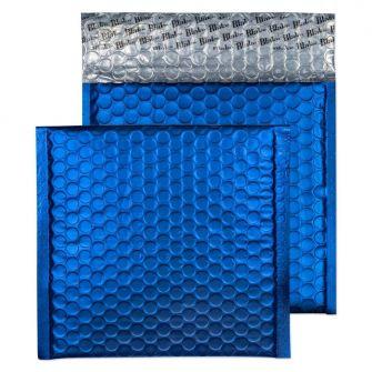 Metallic Bubble Padded Wlt P/S Matt Victory Blue BX100 165x165