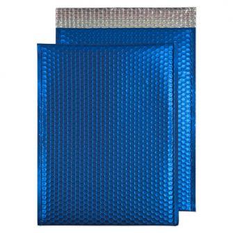 Metallic Bubble Padded Pkt P/S Matt Victory Blue BX50 450x324