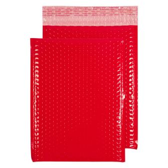 Neon Gloss Padded Pocket Peel and Seal Red BX100 340x240