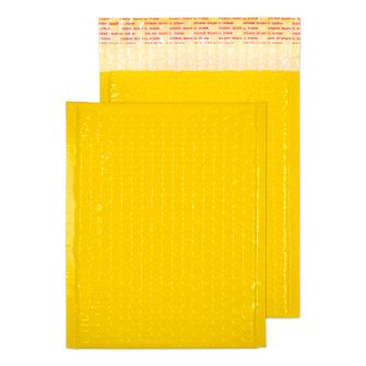 Neon Gloss Padded Pocket Peel and Seal Yellow BX100 250x180