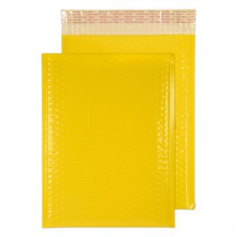 Neon Gloss Padded Pocket Peel and Seal Yellow BX100 340x240