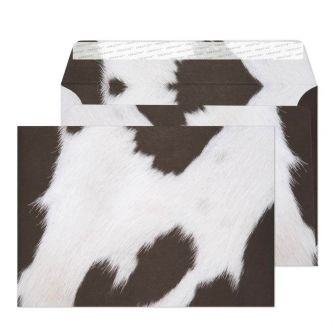 Wallet Peel and Seal Friesian Cow Hide C5 162x229 135gsm Envelopes