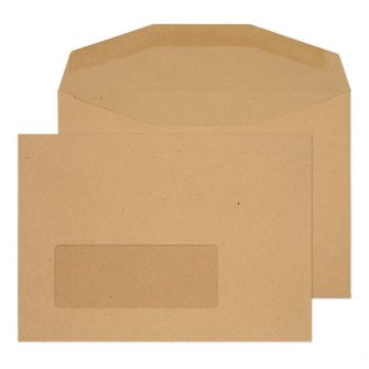 Mailer Gummed Window Manilla C6 114x162 80gsm Envelopes