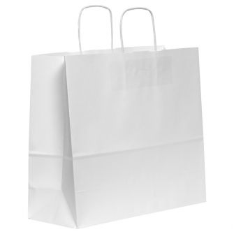 Twist Handled White Kraft Paper Carrier Bag 540X150X490mm 110gsm
