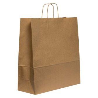 Twist Handled Brown Kraft Paper Carrier Bag 450x170x480mm 100gsm