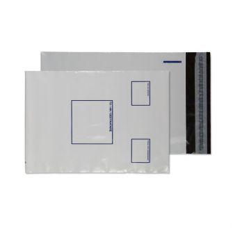 Polypost Polythene Pocket Peel and Seal White 165x238