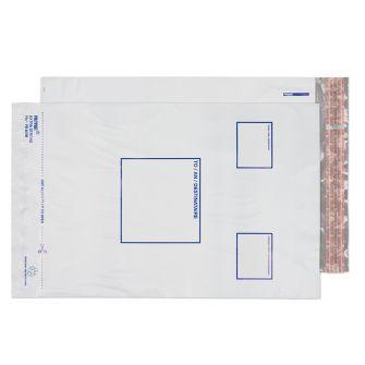 Polypost Polythene Pocket Peel and Seal White 255x350