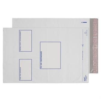 Polypost Polythene Pocket Peel and Seal White C3+ 430x330