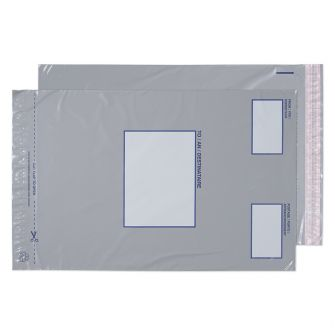 Polypost Pocket Peel and Seal Grey BX500 445x315
