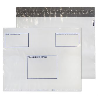 Polypost Polythene Wallet Peel and Seal White C3+ 330x430