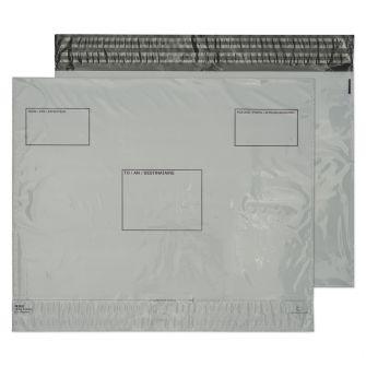 Polypost Polythene Pocket Peel and Seal White 395x400