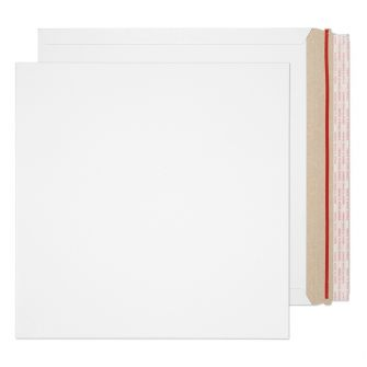 All Board Square Peel and Seal White Board 350GM BX100 340x340
