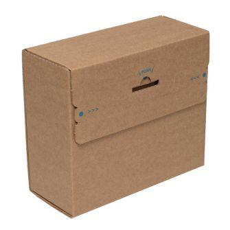 Postal Box Peel and Seal Kraft 300x190x40