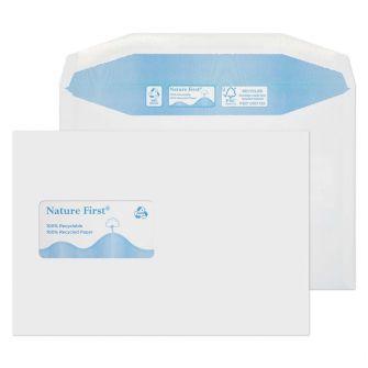 Nature First Mailer Gummed High Window White C5 162x229 90gsm Envelopes