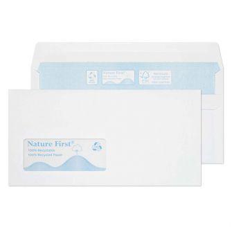 Wallet Self Seal Window White DL 110x220 90gsm Envelopes