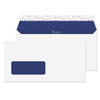 Wallet Peel and Seal Window Super White Wove DL 110x220 120gsm Envelopes