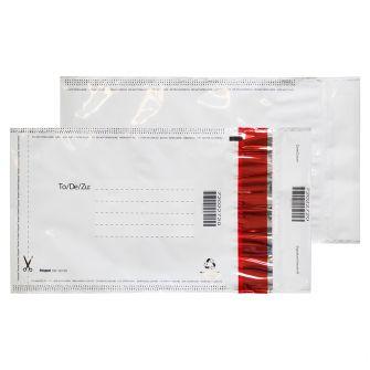 Polypost Polythene Pocket Peel and Seal White C5+ 260x165 70mic