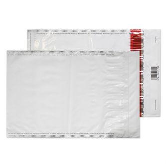 Polypost Polythene Pocket Peel and Seal White C4 320x240 70mic
