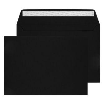 Wallet Peel and Seal Black Velvet C5 162x229 140gsm Envelopes