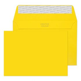 Wallet Peel and Seal Banana Yellow C6 114x162 120gsm Envelopes