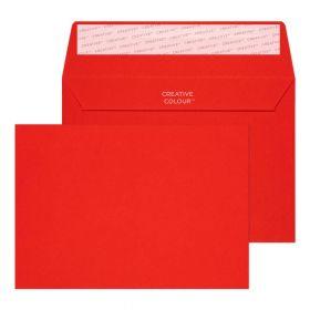 Wallet Peel and Seal Pillar Box Red C6 114x162 120gsm Envelopes