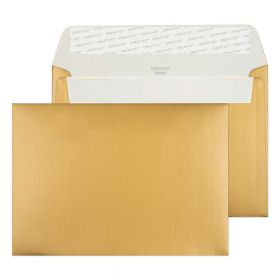 Wallet Peel and Seal Metallic Gold C6 114x162 130gsm Envelopes