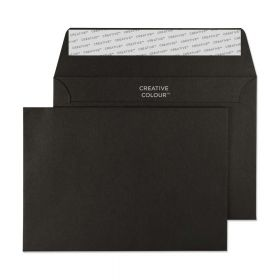 Wallet Peel and Seal Jet Black C6 114x162 120gsm Envelopes