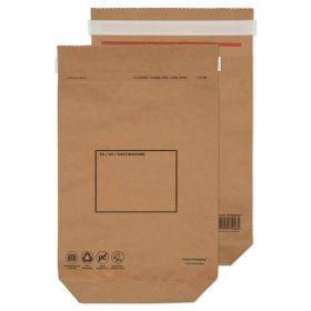 Kraft Mailing Bag Peel and Seal Natural Brown 370x300x80 110gsm