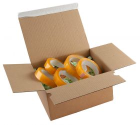 Postal Box Peel and Seal Kraft 230x160x80