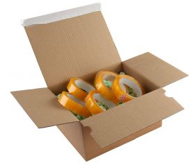 Postal Box Peel and Seal Kraft 305x215x140x220