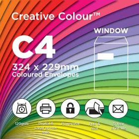 C4 Window Pocket Peel and Seal 324x229mm 120gsm Envelopes