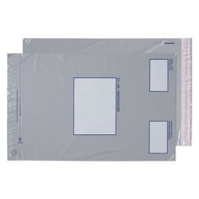 Polypost Pocket Peel and Seal Grey BX500 445x315