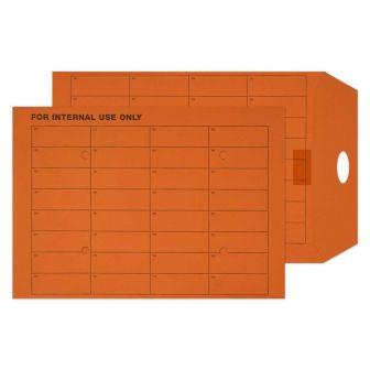Internal Mail Pocket Resealable Orange Manilla C4 324x229 120gsm Envelopes