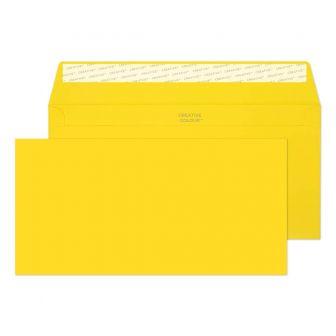 Wallet Peel and Seal Banana Yellow DL+ 114x229 120gsm Envelopes