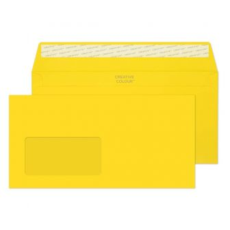 Wallet Peel and Seal Window Banana Yellow DL+ 114x229 120gsm