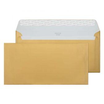 Wallet Peel and Seal Metallic Gold DL+ 114x229 130gsm Envelopes