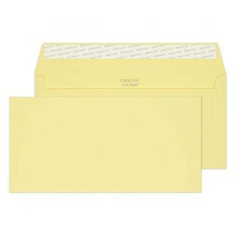 Wallet Peel and Seal Lemon Yellow DL+ 114x229 120gsm Envelopes