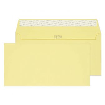 Wallet Peel and Seal Lemon Yellow DL+ 114x229 120gsm Envelopes