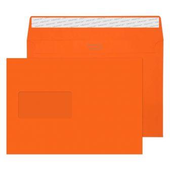 Wallet Peel and Seal Window Pumpkin Orange C5 162x229 120gsm Envelopes