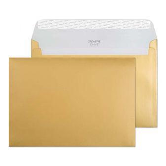 Wallet Peel and Seal Metallic Gold C5 162x229 130gsm Envelopes