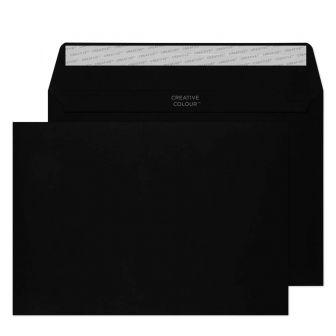 Wallet Peel and Seal Jet Black C5 162x229 120gsm Envelopes