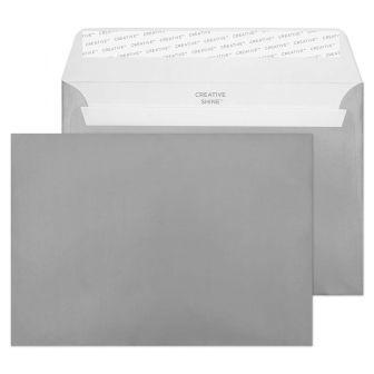 Wallet Peel and Seal Metallic Gunmetal C5 162x229 120gsm Envelopes