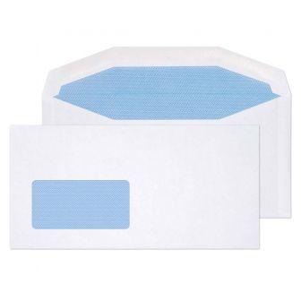 Mailer Gummed Low Window White DL+ 114x229 80gsm Envelopes