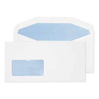 Mailer Gummed Low Window White DL+ 114x229 90gsm Envelopes