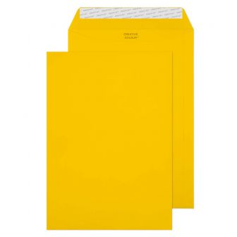 Wallet Peel and Seal Egg Yellow C4 324x229mm 120gsm Envelopes